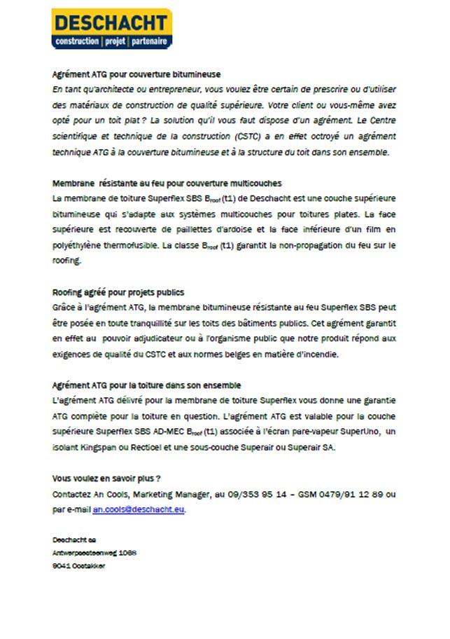Presse - ATG pour Superflex SBS FR