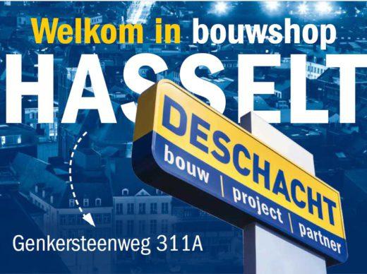 Deschacht gloednieuwe bouwshop in Hasselt