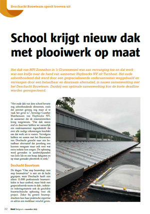 Deschacht Persartikel | Roof Belgium november 2019