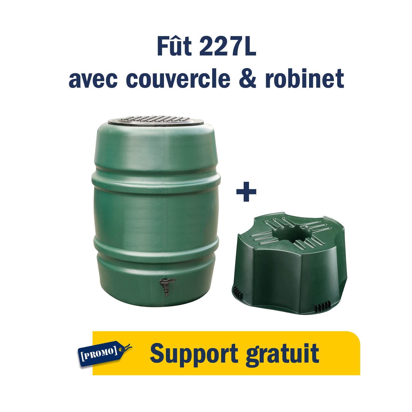 Fût 227L + support GRATUIT